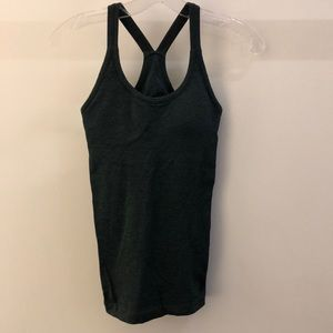 Lululemon Ebb & flow dark green tank, sz 4, 65193